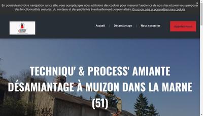 Site internet de Techniqu'& Process'Amiante