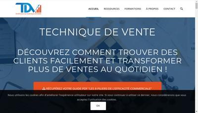Site internet de Technique de Vente Edition