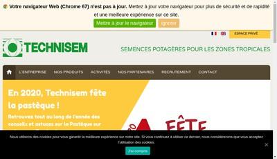 Site internet de Technisem
