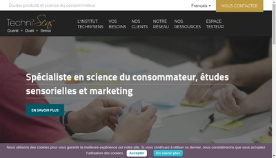 Site internet de Techni'Sens