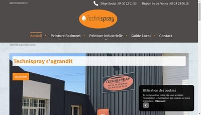 Site internet de Technispray