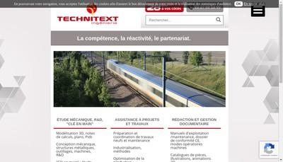 Site internet de Techni Text Ingenierie