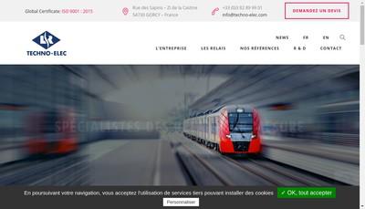 Site internet de Techno-Elec