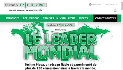 Site internet de Techno Pieux France