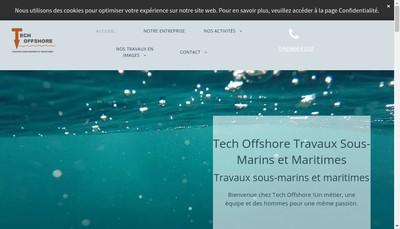Site internet de Tech Off Shore