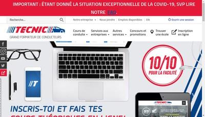 Site internet de Tecnic SARL