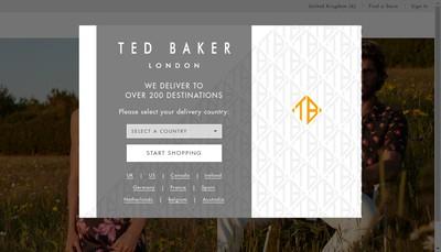 Site internet de Ted Baker France