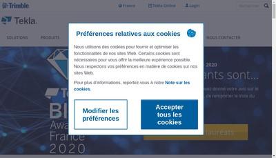 Site internet de Trimble Solutions France