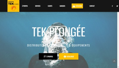 Site internet de Tek Plongee