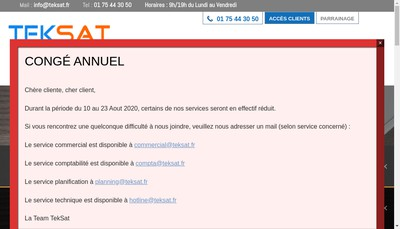 Site internet de Teksat