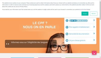 Site internet de Telelangue
