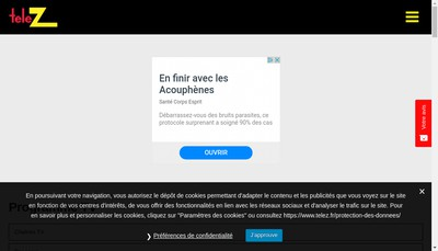 Site internet de Tele Z