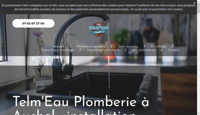 Site internet de Telm'Eau Plomberie