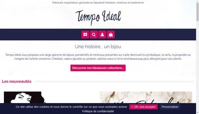 Site internet de Tempo Ideal