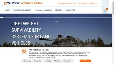 Site internet de Tencate Advanced Armour