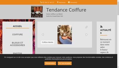 Site internet de Tendance Coiffure