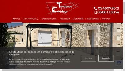 Site internet de Tendance Exterieur