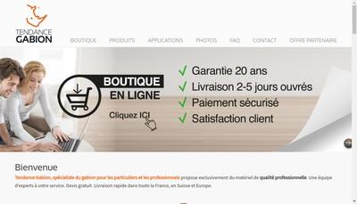 Site internet de Tendance Gabion