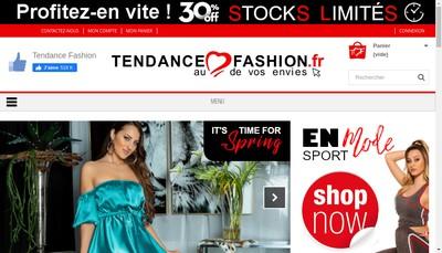 Site internet de Tendance Fashion