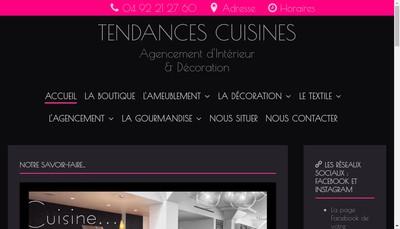 Site internet de Tendances Cuisines