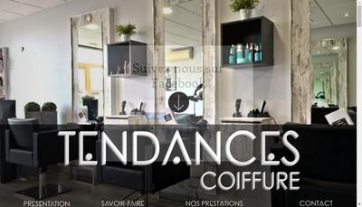 Site internet de Tendances Coiffure