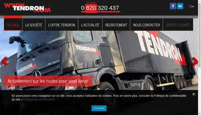 Site internet de Transports Tendron