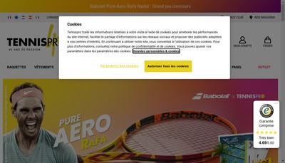 Site internet de Tennispro Distribution