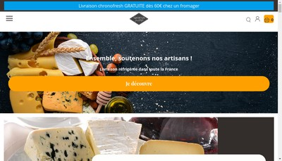 Site internet de SA Fromagerie Alpine