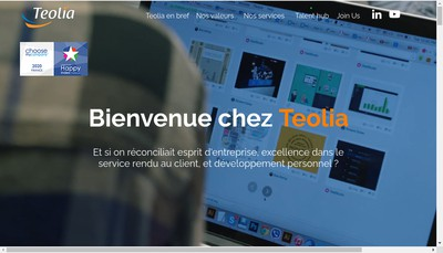 Site internet de Teolia Consulting