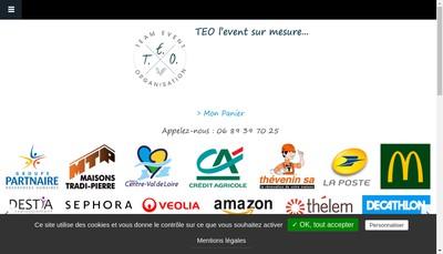 Site internet de Team Event Organisation