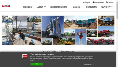 Site internet de Terex India Private Limited
