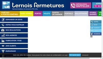 Site internet de Ternois Fermetures