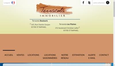 Site internet de Terracota Immobilier