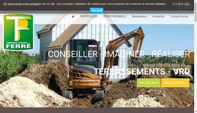 Site internet de Travaux Publics Jacky Ferre et Fils