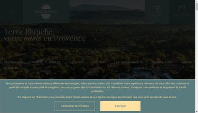 Site internet de Terre Blanche Resort