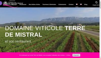 Site internet de Domaine Terre de Mistral