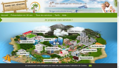 Site internet de Place des Seniors