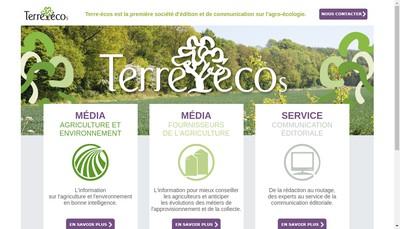 Site internet de Terre - Ecos