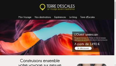 Site internet de Terre d'Escales