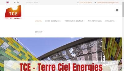 Site internet de Terre Ciel Energies