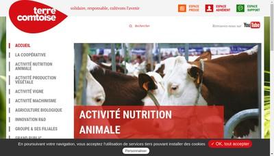 Site internet de Cooperative Agricole Terre Comtoise