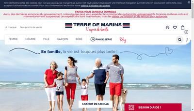 Site internet de Publi Impress et Terre de Marins