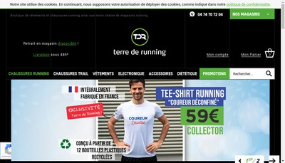 Site internet de Terre de Running