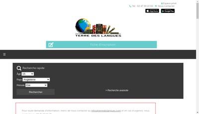 Site internet de Terre des Langues