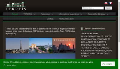 Site internet de Terreis