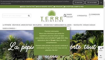 Site internet de Terre Lointaine