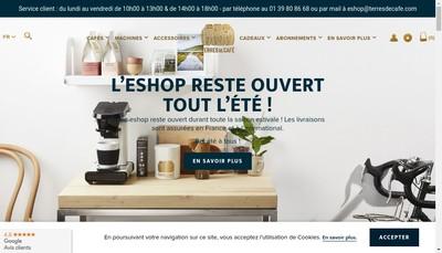 Site internet de Terres de Cafe