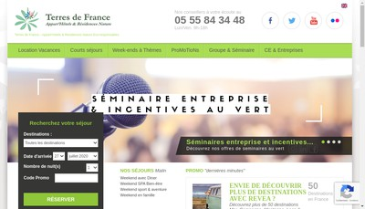 Site internet de Terres de France