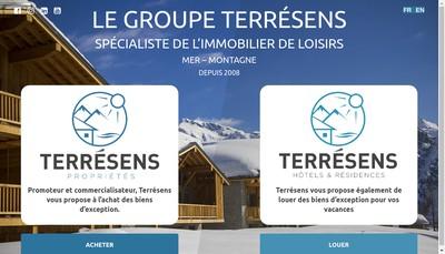 Site internet de Terresens Vacances
