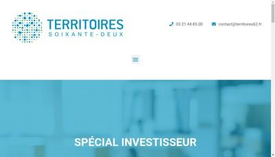 Site internet de Territoires Soixante Deux